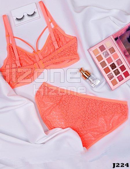 ست لباس زیر مدل الوان (نارنجی)