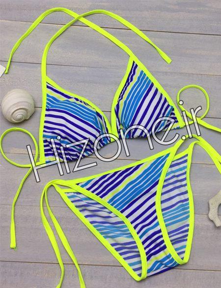 بیکینی-فانتزی-رنگ-فسفری-آبی