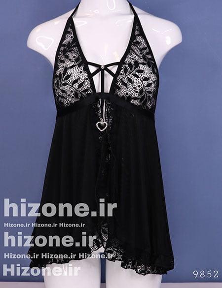 لباس خواب زنانه مدل هیفا (مشکی)
