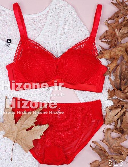 Untitled 23 6 - ست لباس زیر اسفنجی مدل لکسی (قرمز)