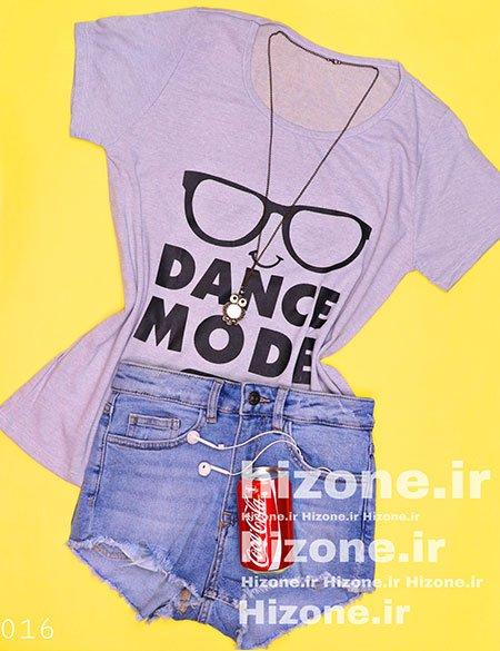 تیشرت نخی طرح Dance Mode
