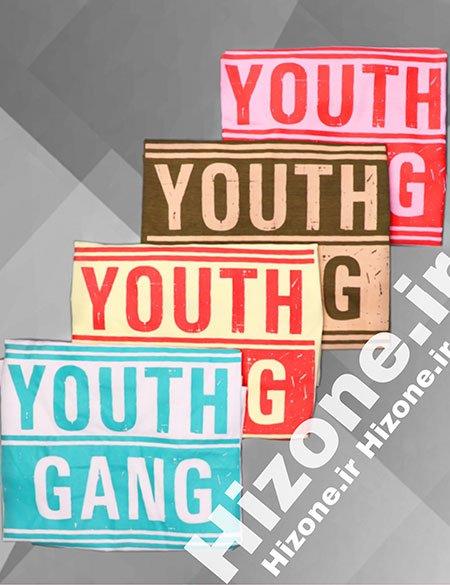 تیشرت طرحدار دخترانه مدل youth