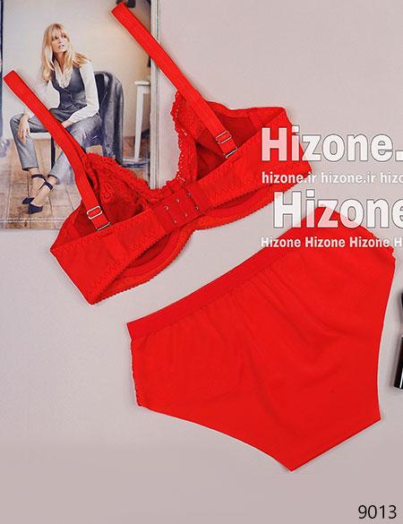 ست لباس زیر مدل کالیفرنیا (قرمز)