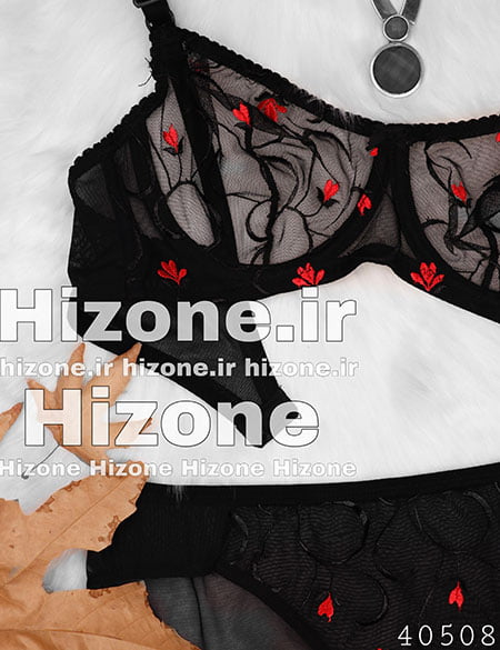 ست لباس زیر مدل گل سوسن