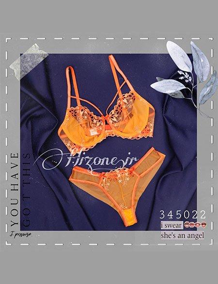ست لباس زیر زنانه مدل نارنگی