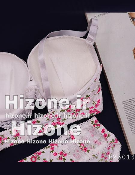ست لباس زیر اسفنجی مدل بله برون (سفید صورتی)