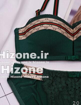 ست لباس زیر اسفنجی مدل گوچی (سبز)