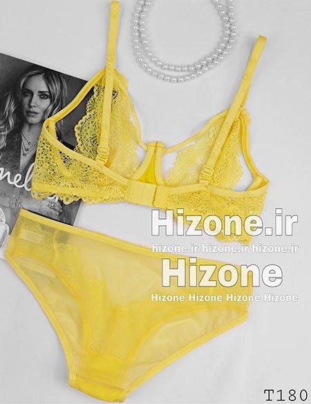 ست لباس زیر مدل کاتالیا (زرد)