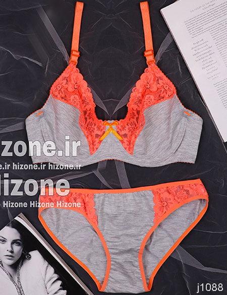 ست لباس زیر مدل ژله (نارنجی)