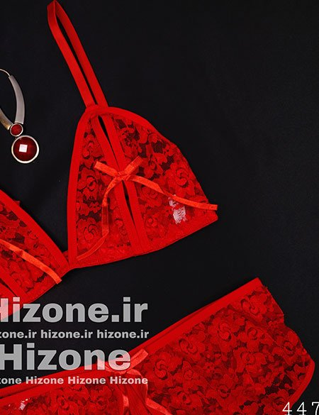 ست لباس خواب مدل شیلان (قرمز)