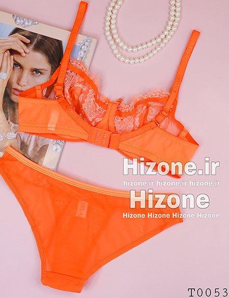 ست لباس زیر مدل اقاقیا (نارنجی)
