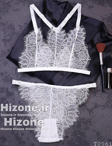 ست لباس زیر مدل شکیرا (سفید)