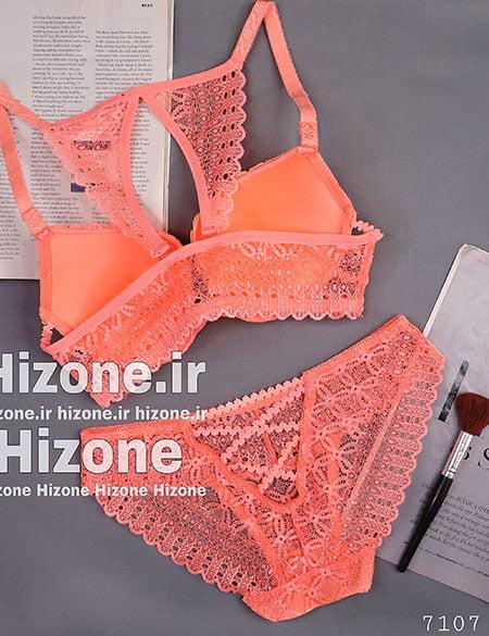 ست لباس زیر اسفنجی مدل آنجلا (نارنجی)