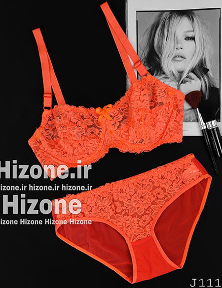 ست لباس زیر مدل رنگین کمان (نارنجی)