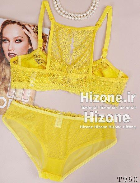 ست لباس زیر زنانه مدل ماتیلدا (زرد)