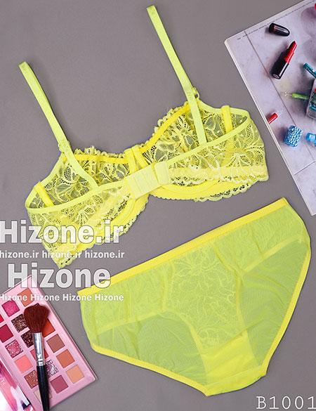 ست لباس زیر مدل پالت رنگی (زرد)