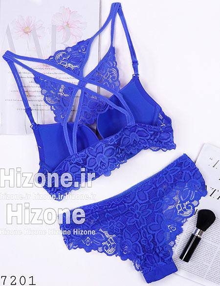 ست لباس زیر اسفنجی مدل ملیسا (آبی کاربنی)