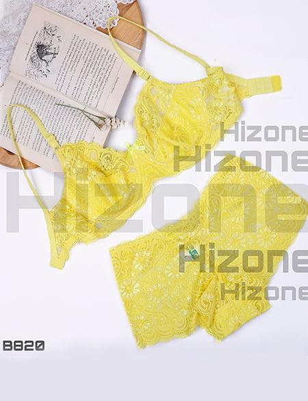 ست لباس زیر مدل تافی میوه ای (زرد)