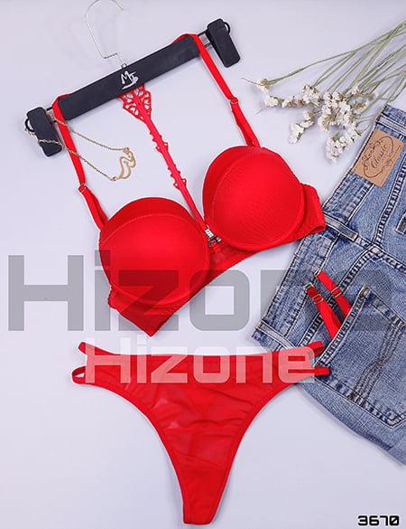 ست لباس زیر اسفنجی مدل ایپک (قرمز)