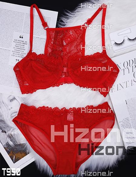 ست لباس زیر زنانه مدل ماتیلدا (قرمز)