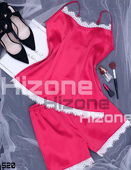ست لباس خواب مدل ژولیت (سرخابی)