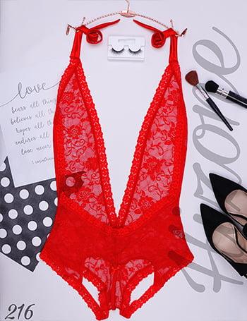 لباس خواب مدل ویکتوریا (قرمز)