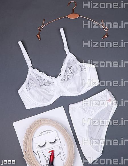 ست لباس زیر مدل آبنبات رنگی (سفید)