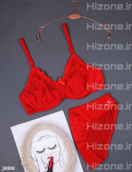 ست لباس زیر مدل آبنبات رنگی (قرمز)